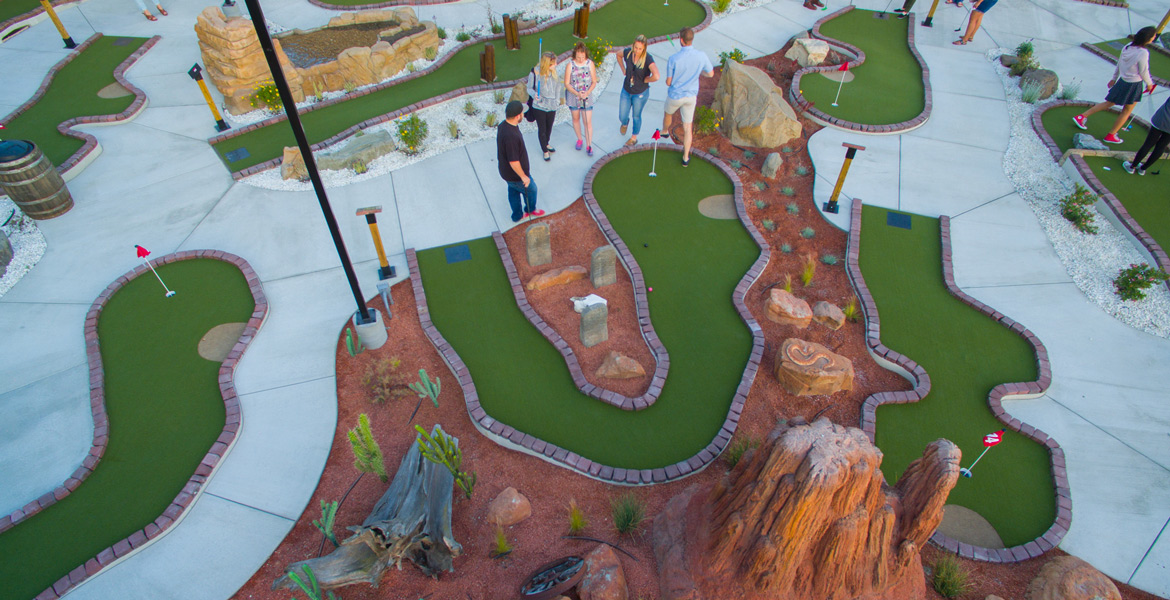 Atascadero Mr Putters Mini-golf Drone Photographer - Studio 101 West Photography