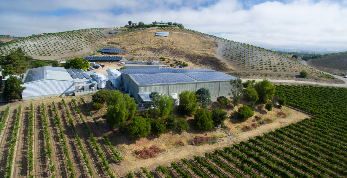 Paso Robles Peachy Canyon Winery Drone Photographer - Studio 101 West Photography